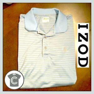 Izod  Golf // Blue & White // size Large